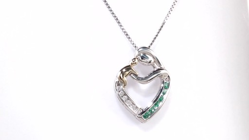 Zales 5.0mm Heart-Shaped Lab-Created Ruby and White Sapphire Infinity Motherly Love Pendant in Sterling Silver c7SFdxtG0f
