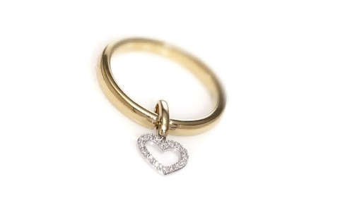 Zales Convertible Diamond Accent Heart Dangle Ring And