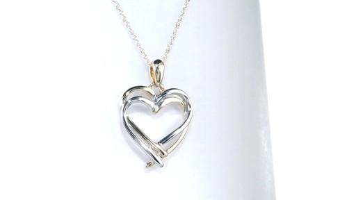 Zales Double Intertwined Heart Pendant in 10K Two-Tone Gold SyT3CNQrC