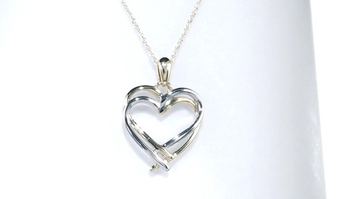 Zales Double Intertwined Heart Pendant in 10K Two-Tone Gold bIEv1PAM