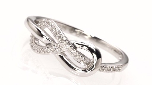 Diamond Accent Infinity Knot Ring In Sterling Silver Rings