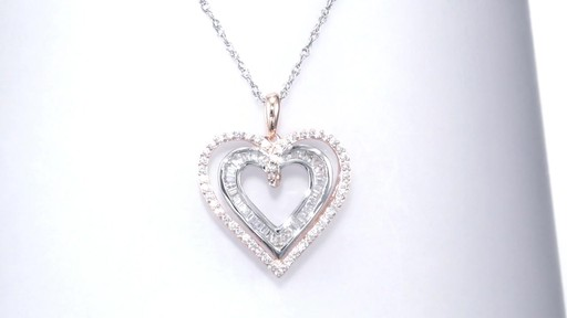 Zales 5.0mm Lab-Created White Sapphire Double Drop Pendant in Sterling Silver and 10K Rose Gold hliBBV64