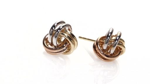 Zales Love Knot Stud Earrings in 14K White Gold g6lRfUXzr