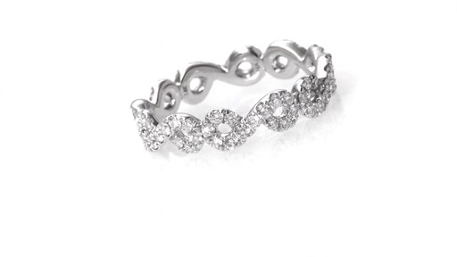 Diamond Twist Eternity Band in 14K White Gold Women s Size regular ZAL