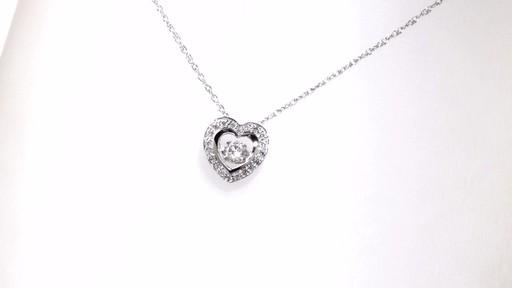 Diamond Heart Pendant In 10k White Gold Diamonds In Motion