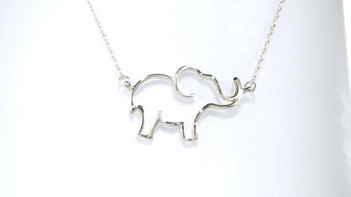 Zales Open Elephant Necklace In 10k Gold Women S Size