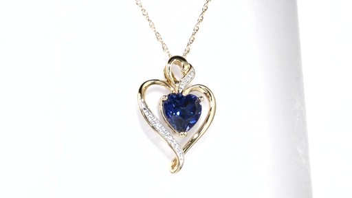 Zales Lab-Created White Sapphire Layered Heart Pendant in Sterling Silver and 14K Gold Plate 86nabi