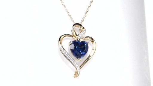 Heart Shaped Lab Created Blue And White Sapphire Pendant