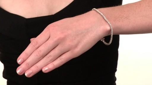 Diamond Tennis Bracelet In 10k White Gold 3 Ct T W Dia Brac Bangle Image