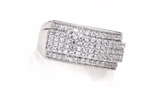Diamond Cluster Wide Anniversary Band In 10k White Gold 1