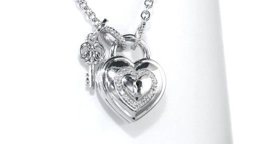 ZALES Forever Locking Love Diamond Accent Heart-Shaped ...