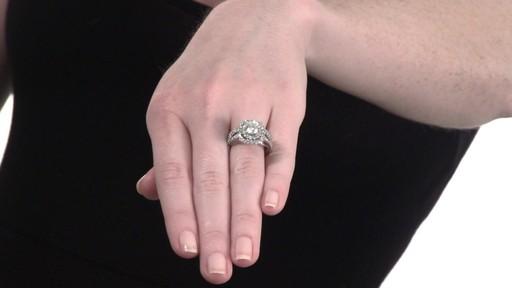 Diamond Double Frame Bridal Set In 14k White Gold 2 1 4 Ct