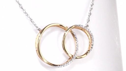 Diamond Interlocking Circles Necklace In 10k Rose Gold 1