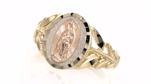 Our Lady Of Guadalupe Ring In 10k Tri Tone Gold Other Gold