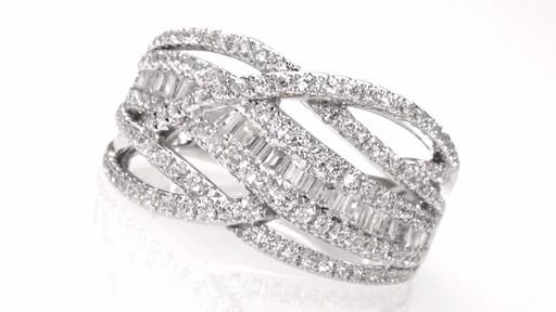 Diamond Loose Braid Ring In 10k White Gold 1 Ct T W