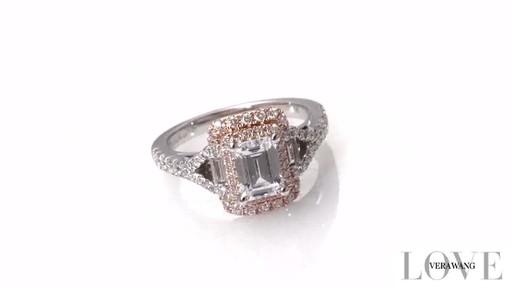 Emerald Cut Diamond Split Shank Engagement Ring in 14K Two Tone