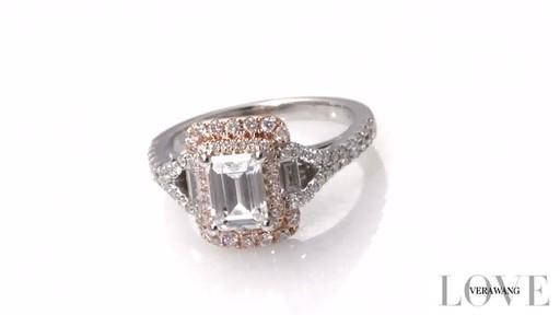Emerald Cut Diamond Split Shank Engagement Ring In 14k Two