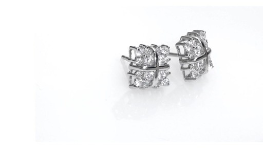 a45b44c00feb43 Diamond Square Cluster Stud Earrings in 14K White Gold, Women's, Size:  regular ZALES