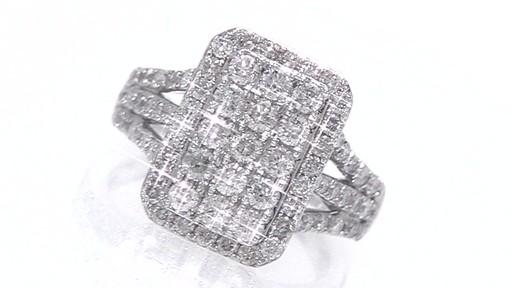 Diamond Emerald Composite Frame Engagement Ring In 10k