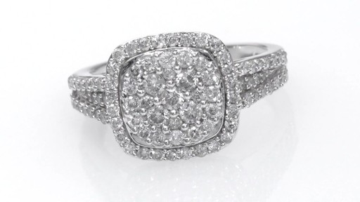 Composite Diamond Cushion Frame Engagement Ring In 14k