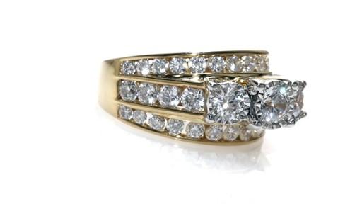 Past Present Future Diamond Three Stone Ring In 14k Gold