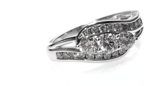 Diamond Bypass Engagement Ring In 10k White Gold Women S