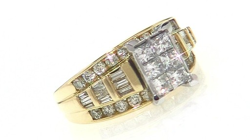 Princess Cut Composite Diamond Engagement Ring In 14k Gold