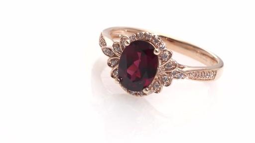 Diamond Petal Frame Ring in 10K Rose Gold Women s Size regular ZALES O