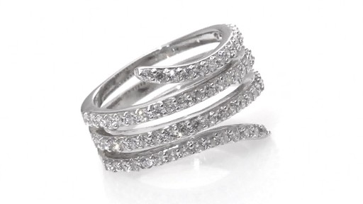 Zales Lab Created White Sapphire Wrap Ring In Sterling