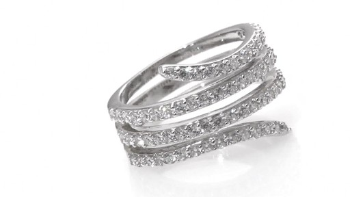ZALES Lab Created White Sapphire Wrap Ring in Sterling Silver Size 7 Women