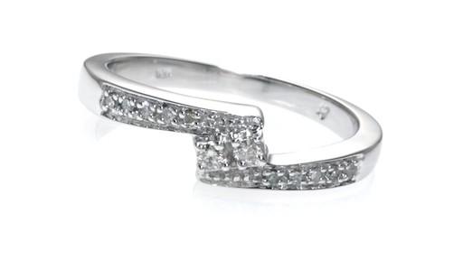 Diamond Bypass Promise Ring in 10K White Gold ZALES 1 10 Shop Zales Ameri