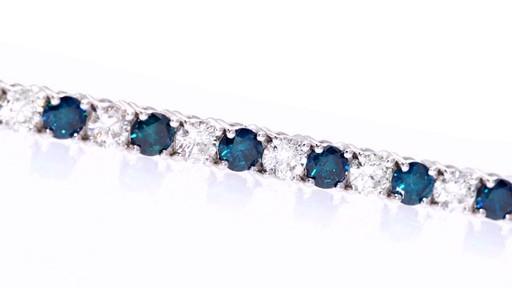 Zales Blue Diamond Bracelet