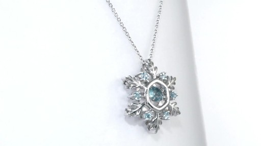 81a608d0ae2bfc Swiss Blue Topaz Snowflake Pendant in Sterling Silver, Women's, Size:  regular ZALES Unstoppable