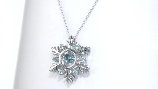 Zales Unstoppable Love Lab-Created Blue Sapphire and Diamond Accent Snowflake Pendant in Sterling Silver x3DGBUpNyb