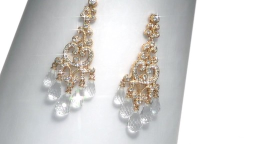 Ava Nadri Cubic Zirconia And Crystal Chandelier Earrings In Br Image 1 From The Video
