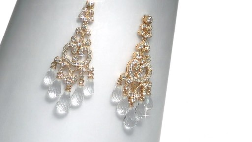 Ava Nadri Cubic Zirconia And Crystal Chandelier Earrings In Br Image 7 From The Video