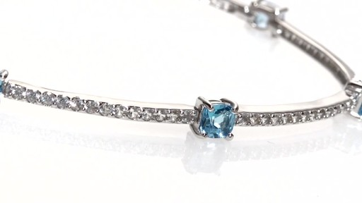 Zales Cushion Cut Swiss Blue Topaz And Lab Created White Sapphire