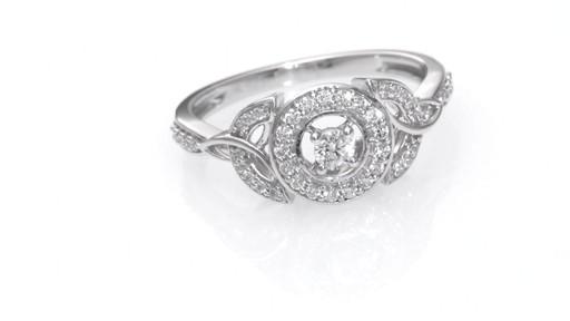 d39a98947c7 Diamond Frame Celtic Trinity Knot Ring in 10K White Gold