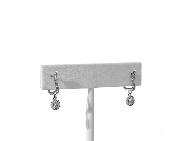 3/4 CT. T.w. Diamond Frame Drop Earrings in 10K White Gold - image 2 from the video