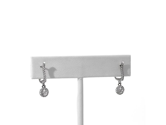 3/4 CT. T.w. Diamond Frame Drop Earrings in 10K White Gold - image 3 from the video