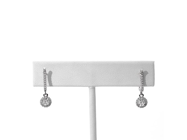 3/4 CT. T.w. Diamond Frame Drop Earrings in 10K White Gold - image 5 from the video