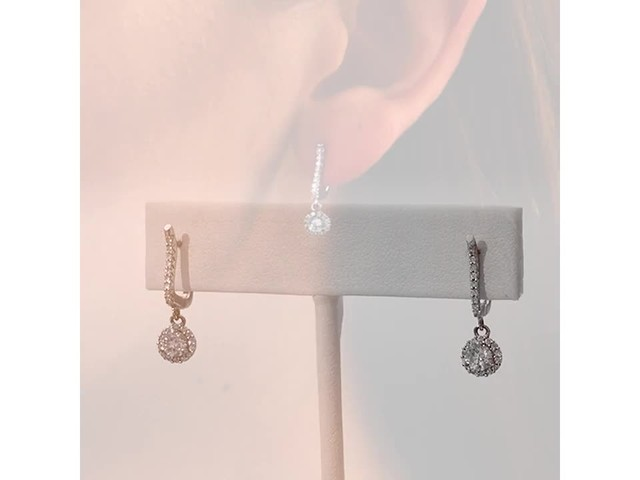 3/4 CT. T.w. Diamond Frame Drop Earrings in 10K White Gold - image 7 from the video