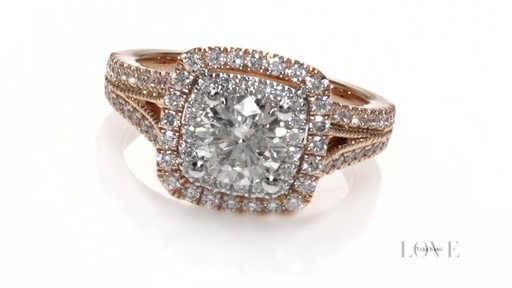 Diamond Vintage Style Engagement Ring In 14k Two Tone Gold Vera Wang