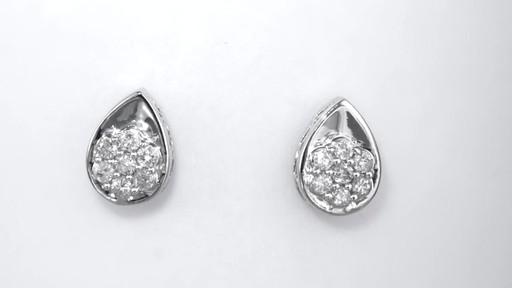 Composite Diamond Teardrop Stud Earrings In 10k White Gold