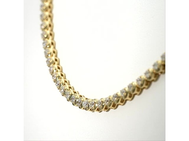 Serena Williams Jewelry 3 CT. T.w. Diamond Riviera Necklace in 10K Gold - image 1 from the video