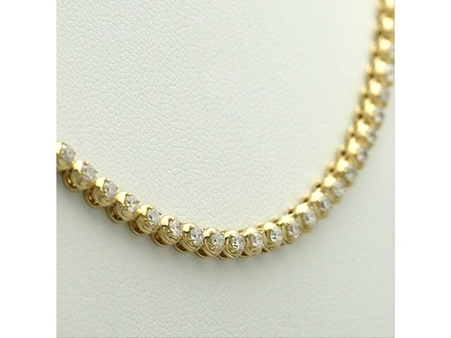 Serena Williams Jewelry 3 CT. T.w. Diamond Riviera Necklace in 10K Gold - image 10 from the video