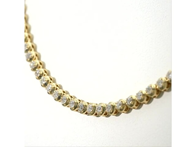 Serena Williams Jewelry 3 CT. T.w. Diamond Riviera Necklace in 10K Gold - image 2 from the video