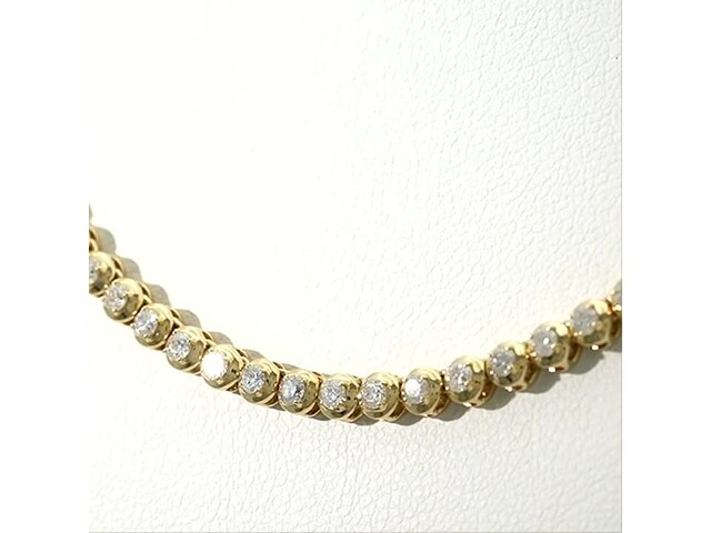 Serena Williams Jewelry 3 CT. T.w. Diamond Riviera Necklace in 10K Gold - image 3 from the video