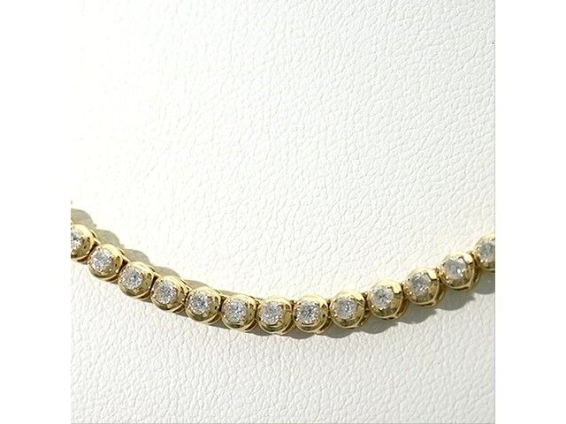 Serena Williams Jewelry 3 CT. T.w. Diamond Riviera Necklace in 10K Gold - image 4 from the video