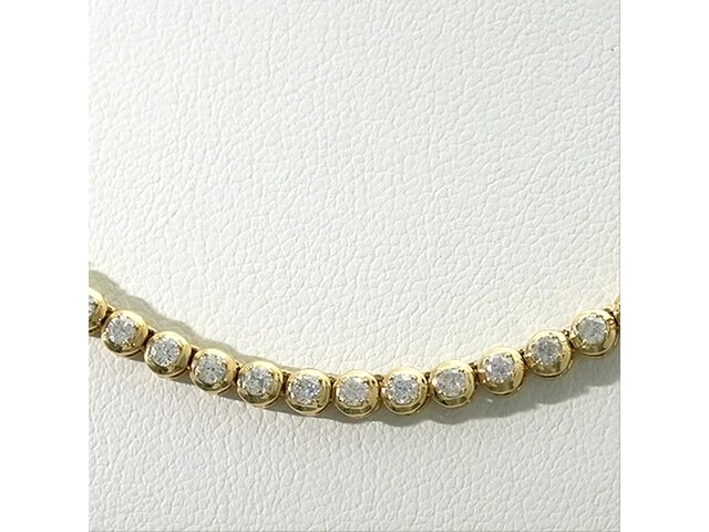 Serena Williams Jewelry 3 CT. T.w. Diamond Riviera Necklace in 10K Gold - image 5 from the video